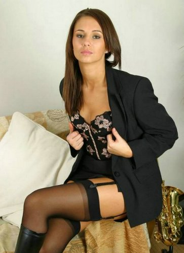 Frauen in sexy Nylons