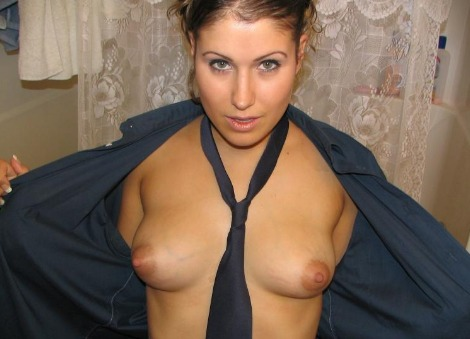 Intime Einblicke in ihre Bluse